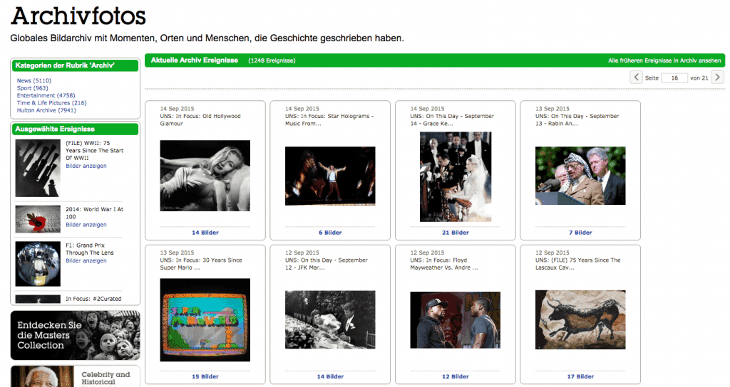 Getty Images Archivefotos und Historische Bilder